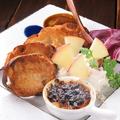 料理メニュー写真フランス産カルヴァトス香る林檎とマスカルポーネのパテ~林檎のブリュレ添え~