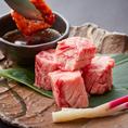 売り切れ必至!大人気メニューの「特上ゲタカルビ」は脂が多いため柔らかく、濃厚な肉の旨味が味わえる逸品です。一頭の牛から少量しか取ることが出来ない希少部位をこの機会に是非ご賞味ください。