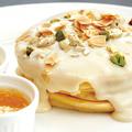 料理メニュー写真クリームナッツパンケーキ