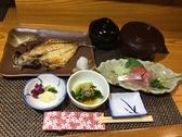 鯵の干物焼きと刺身御膳 昼食時1650円~