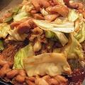 料理メニュー写真熱々鉄板の【鶏(けい)ちゃん焼き】