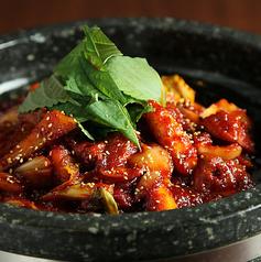 料理メニュー写真辛鶏 「大石焼ダッカルビ 」