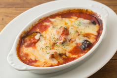 料理メニュー写真ナスと餅のトマトグラタン