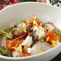料理メニュー写真● 本日の海鮮と山芋の大漁サラダ