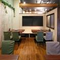 完全個室6~35名様×1。テーブル半個室12~20名様×1
