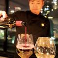 夜景と共にお料理とワインの至福のペアリングをお楽しみくださいませ☆