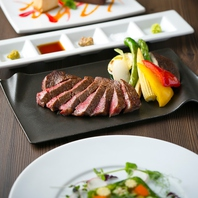 豊後牛ステーキを愉しめるコースは7000円からご用意。