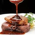 料理メニュー写真牛サーロイン肉にフォアグラをのせて~ロッシーニ風~