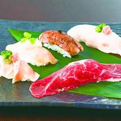 料理メニュー写真寿司盛り合わせ(魚)/(肉)