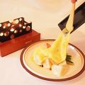 料理メニュー写真ラクレットチーズ100gと温野菜
