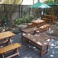 木漏れ日の中のお庭はペットやお子様と過ごすにも最適です。
