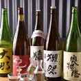 四季を感じさせる和食に合うのは、やはり日本酒。旨みのバランスが良い、純米以上のお酒に力を入れたラインナップとなっており、日本酒通も唸る品揃えです。「獺祭」や「醸し人九平次」などの愛知県のお酒をはじめ、全国各地の日本酒を常時15種類ご用意しております。