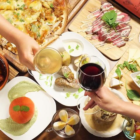 カフェダイニング×バル デザイナーの手がけたオシャレな空間で楽しむ自然食
