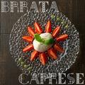料理メニュー写真愛知県産フルーツトマトとブッラータチーズのカプレーゼ(数量限定)