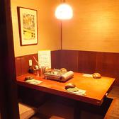 4名様用個室席◆JR仙台駅から徒歩5分以内◆お籠り感のある個室は2名様~。6名様前後の個室が充実!プライベート感あふれる個室なら、周りを気にせず会話も弾みます。大切なご友人や接待でのお食事にもぴったりです。個室のご予約はお早めに!
