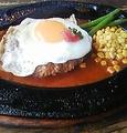 料理メニュー写真エッグハンバーグ