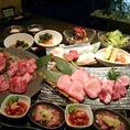 希少部位を使用した、人気のメニューがご堪能頂けるコースをご用意。上質なお肉が5000円~と大変リーズナブルな価格でお楽しみいただけます。飲み会や女子会はもちろん、接待や特別な日のお祝いにも◎