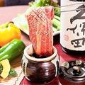 料理メニュー写真壺漬けカルビ/牛カルビ