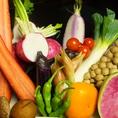地物野菜にこだわり毎日新鮮な野菜を仕入れ