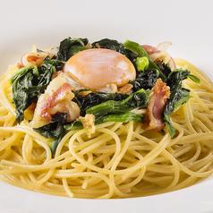 料理メニュー写真(和風)ベーコン、ほうれん草、卵