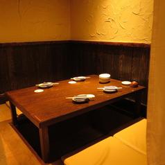 4名個室のお席です。接待や女子会に人気のお席です。大変人気ですので、お早目にご予約ください。