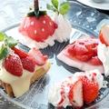 料理メニュー写真限定イチゴのデザートプレート