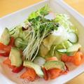 料理メニュー写真アボガドとサーモンサラダ