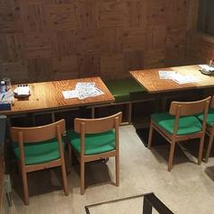 テーブルは移動が可能で、様々な人数のご対応が可能です!ふらっとでも宴会でも、シーンに合わせてご利用下さい☆