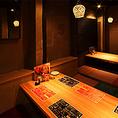 【2F】2つの掘りごたつ個室の壁を外して1つの大きな空間に。最大10名様までのご宴会が可能です。