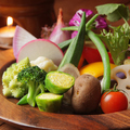 料理メニュー写真農園野菜の蟹味噌バーニャカウダ