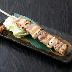 豚バラ肉の尺串焼き