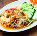 料理メニュー写真ソムタム・タイ(青パパイヤのサラダ)