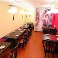 26名様までご利用可能な宴会にも使える個室。宴会ご利用時には、お客様のご要望で禁煙席への対応可能。