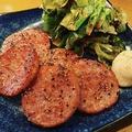 料理メニュー写真雲仙ハムの黒コショウ焼き