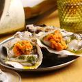 料理メニュー写真生牡蠣の雲丹乗せ