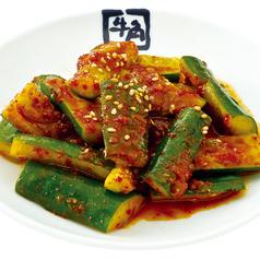 料理メニュー写真牛角キムチ/ピリ辛たたき胡瓜/カクテキ/やみつき塩キャベツ/丸ごと塩オクラ