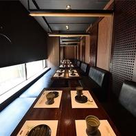 宴会・接待・食事会に…ゆったり寛げる個室空間