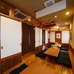 【2F/禁煙】2階は暖簾で仕切られた座敷をご用意。大人数の宴会にも対応しております!是非ご相談ください。