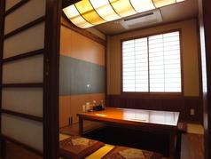 【1階】ゆったりくつろげる4名掛け掘りごたつ席×2 1部屋