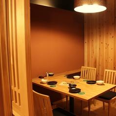 最大4名様まで利用可能な個室