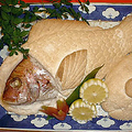 料理メニュー写真天然鯛塩釜焼き
