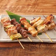 『桜』マークの国産鶏肉『桜姫』を使用した串焼き◎