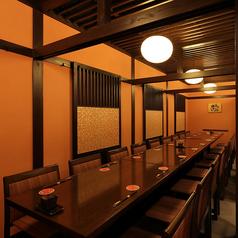 2階は全席お座敷のテーブル席。全席半個室。4名席から最大32名様まで