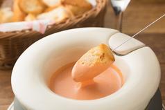 料理メニュー写真チーズフォンデュ トマト