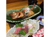 キンキの煮付けと刺身御膳 昼食その日の入荷により仕入れが変わります。