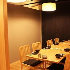 最大8名様まで利用可能な個室