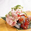 料理メニュー写真3種のこぼれ寿司