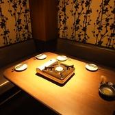 ~ベンチソファ席~他にも4名用個室や2名個室など雰囲気ことなる個室が多数!