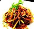料理メニュー写真【ホルモンと長ネギ】の辣油和え