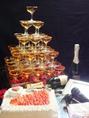【ウェルカムDVD無料作成など2次会特典多数!!】貸切特典なんと40特典!!なんとグラス55コ使用のシャンパンタワーやケーキもあります!!